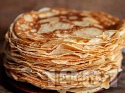 Хрупкави английски палачинки - тънки, без набухвател (без сода и без бакпулвер) - снимка на рецептата